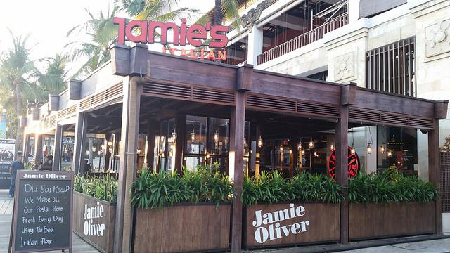 Jamie's Italian Restaurant in Kuta Beach, Bali