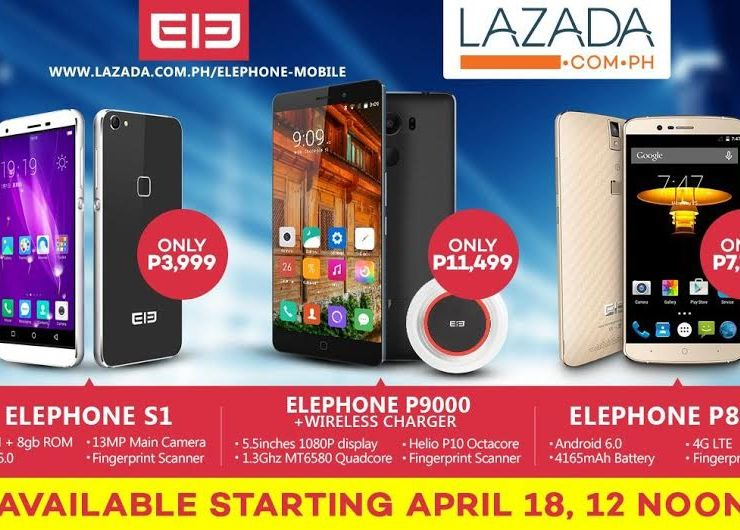 Elephone to be exclusively sold at Lazada beginning April 18