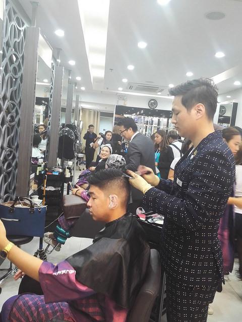 Haircut & color at Bangs Prime Salon by Tony & Jackey
