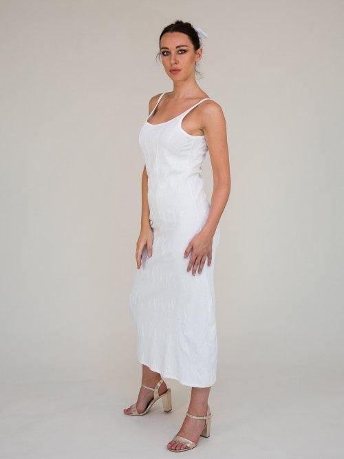abito bianco in cotone ricamato