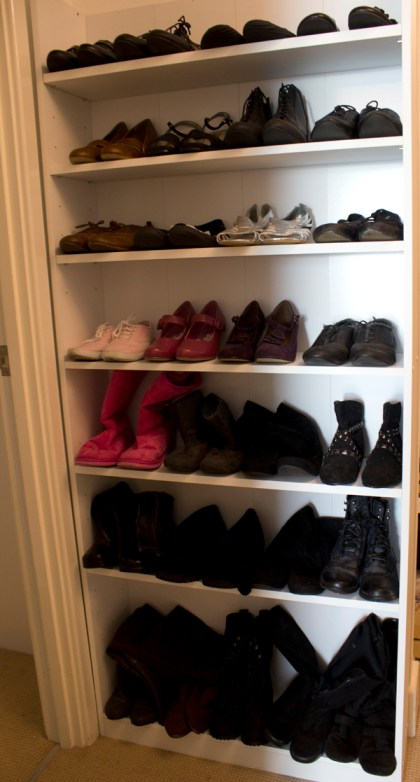 My shoes rack.