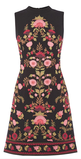 Oasis Floral Embroidered Dress
