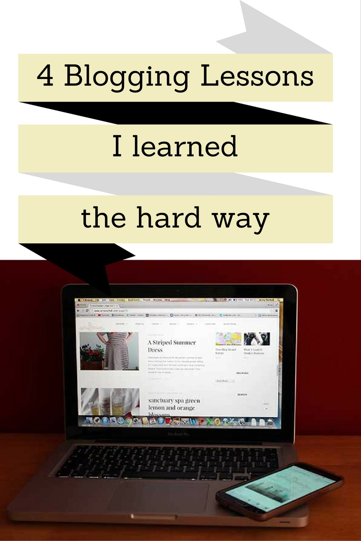4 Blogging Lessons I learned the hard way