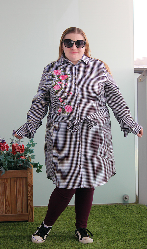style wise direct gingham shirt dress