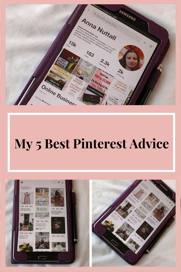 my 5 best Pinterest advice