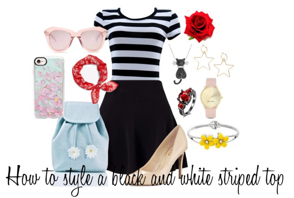style a black and white striped top