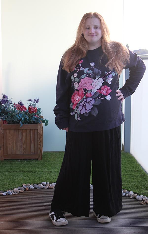 Oasis kimono flower Sweater