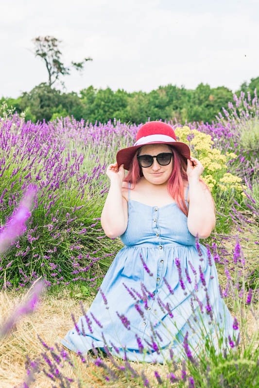 lavender field summer denim look