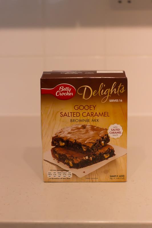 caramel chocolate brownie