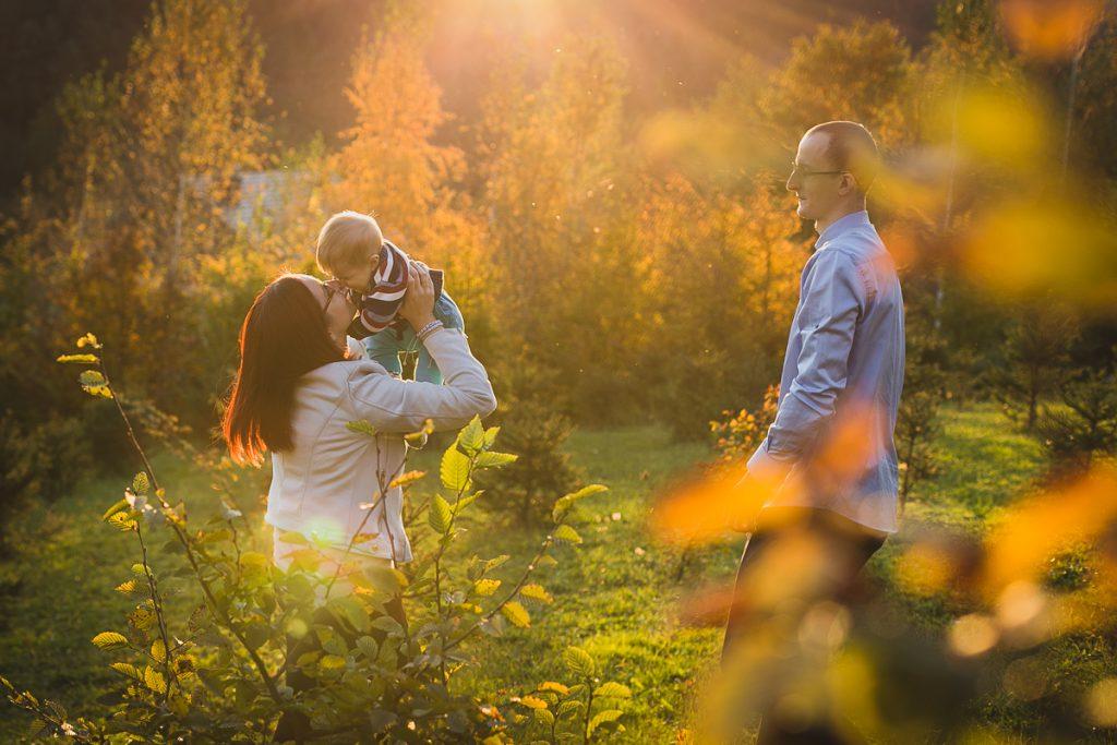 jesienna sesja rodzinna lifestyle