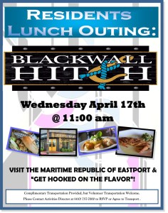 lunch outing flyer