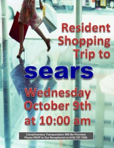 october 2019 sears shopping trip