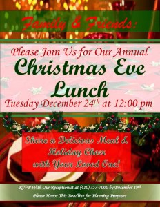 assisted living annapolis christmas eve lunch flyer