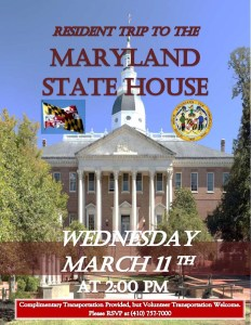 flyer for visit to state house
