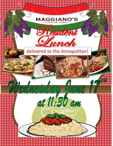 catered italian lunch flyer