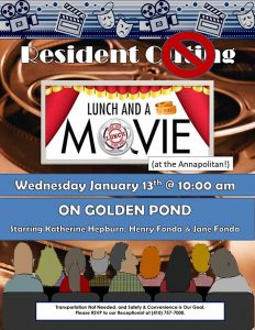 assisted living movie matinee flyer