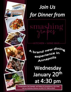 assisted living catered dinner flyer