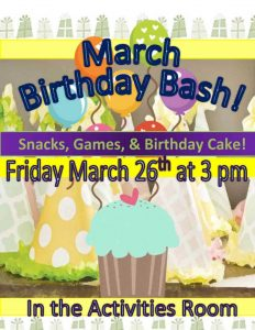 image of birthday party flyer