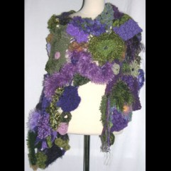 """Freeform KC Shawl"" by Brenda and Krista Fandrei leeslines@yahoo.com"