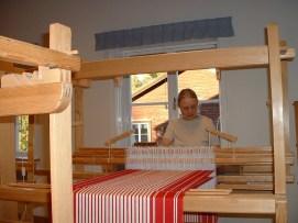 J H at draw loom