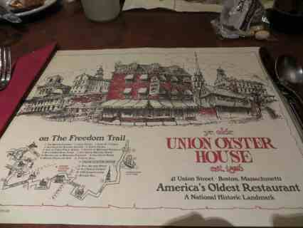Boston Trip - Union Oyster House
