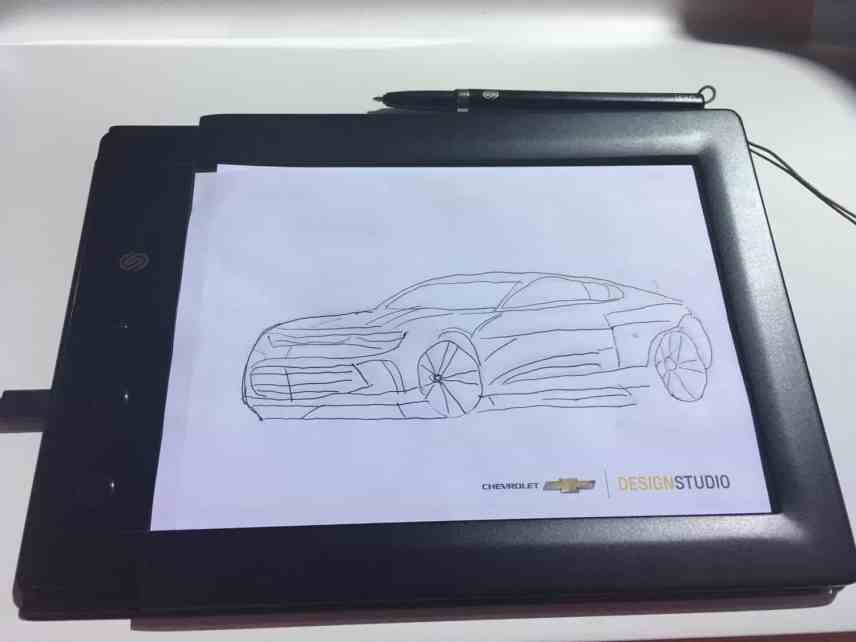 Family Friendly Auto Show Activities - Chevrolet My Camaro Sketch