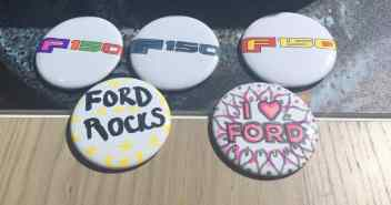 Family Friendly Auto Show Activities - Ford Buttons