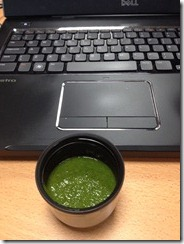 Smoothie at desk