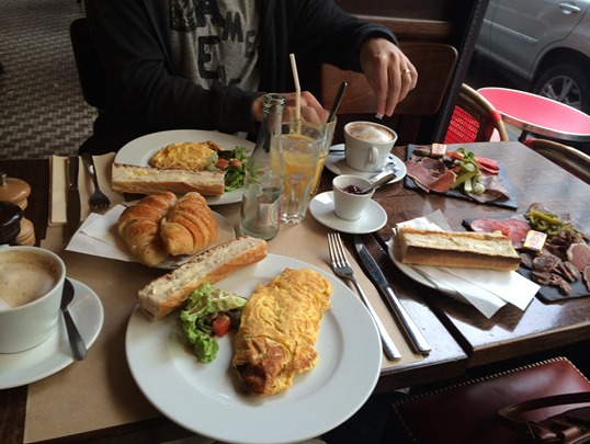 Parisienne breakfast