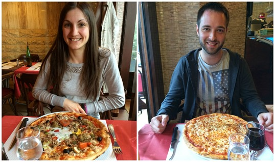 Pre-marathon pizza