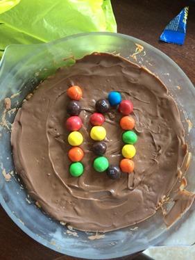 Chocolate crispie cake