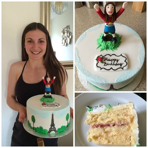 Paris Marathon birthday cake
