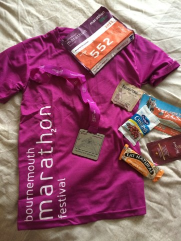 Bournemouth marathon goodie bag