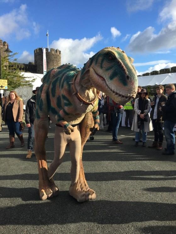 Conwy food festival dinosaur