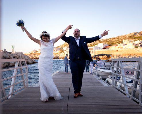 accueil des mariés aux goudes à marseille