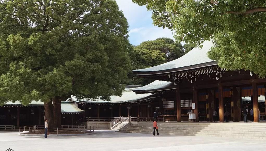 Meiji shrine in tokyo japan