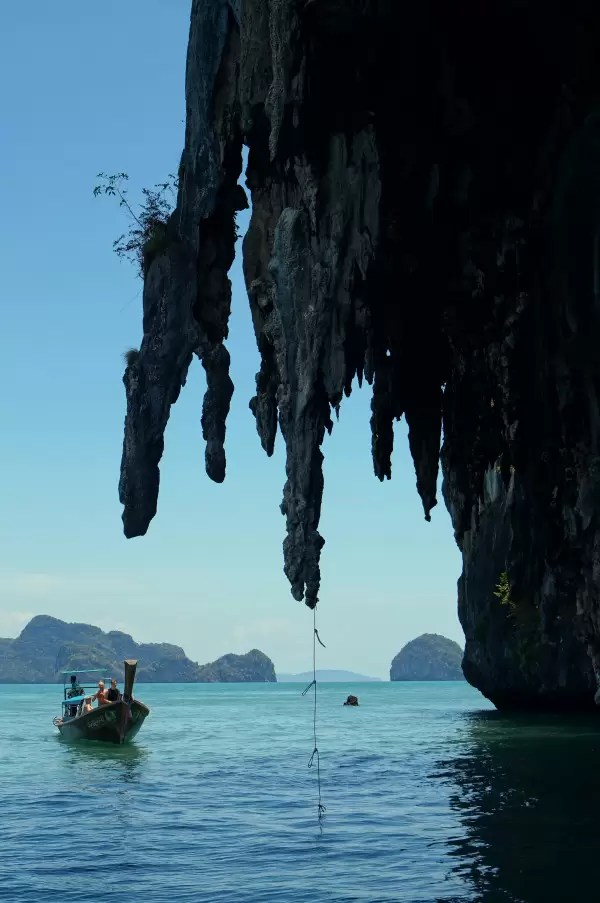 Must see in our Koh Yao Noi travel guide: the karst rock formations with in phang nga bay