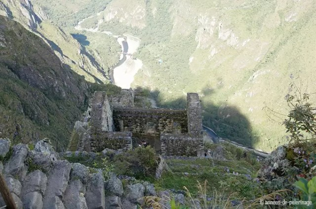 Inca ruins near the summit of wayna picchu - only the walls remain