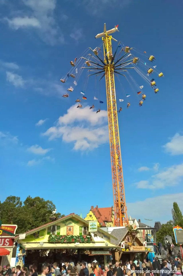A traditional ride at oktoberfest in munich
