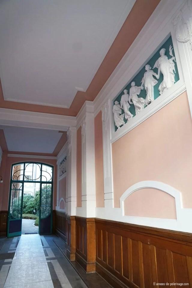 inside an art nouveau house at Franz-Josef-strasse in Munich