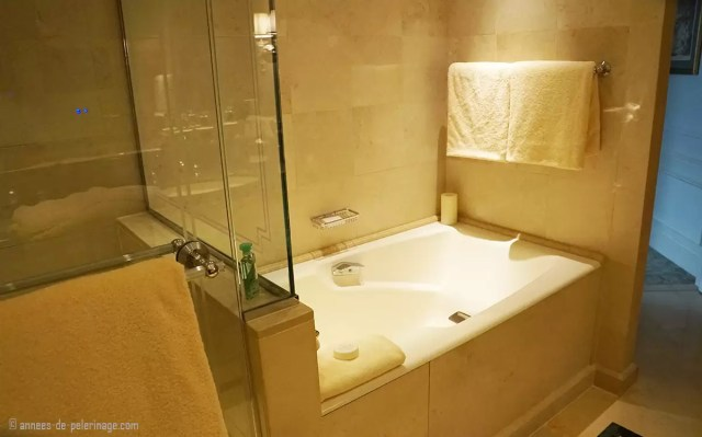 Bathrooms of the Four Seasons Hotel George V in Paris
