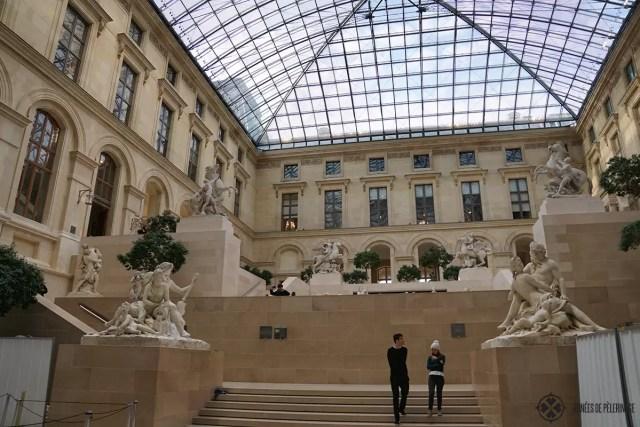 A courtxard inside the Louvre Museum in Paris