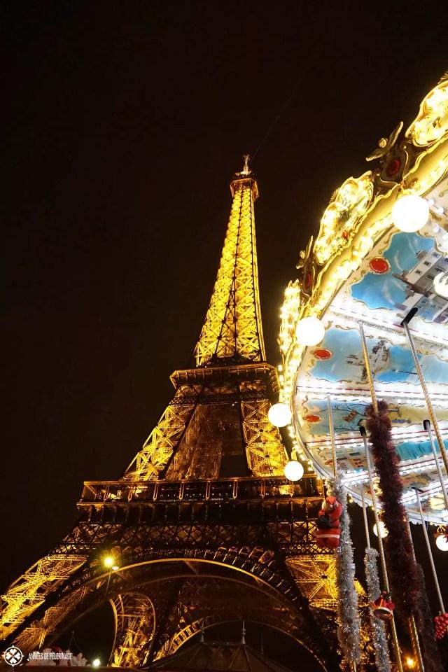 The Eifel tower at night