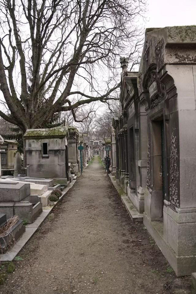 The graveyard of Montmartre in Paris