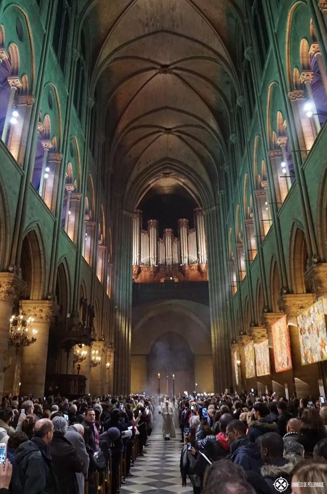 Chrismas service at Notre-Dame de Paris