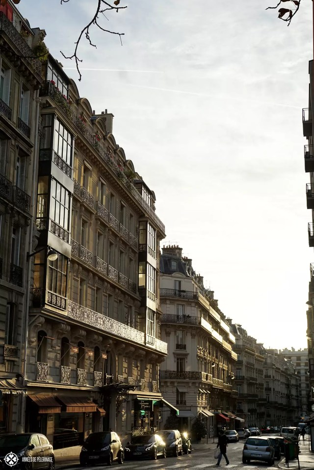 The streets of Paris in milky morning light