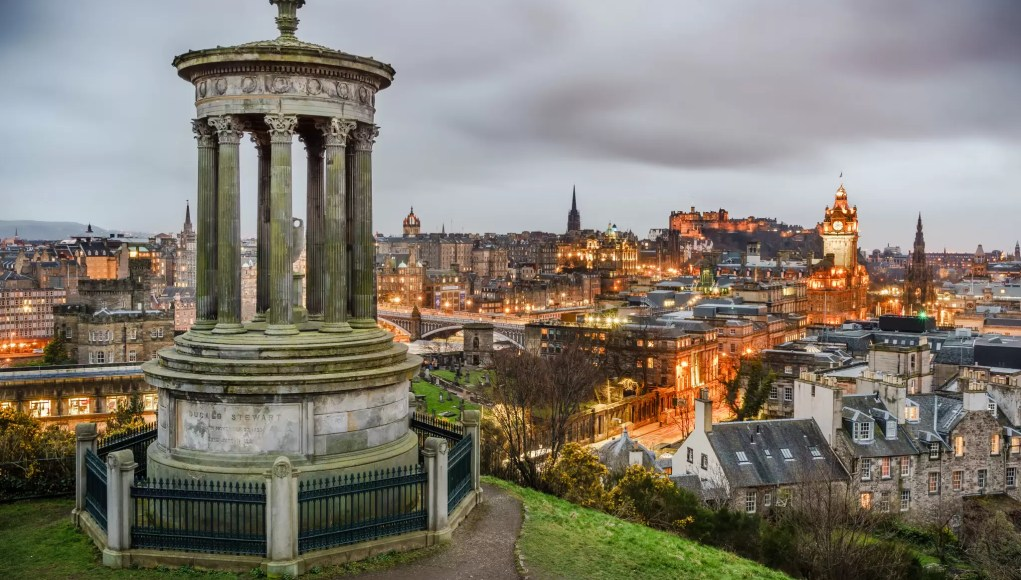 View of Edinburgh from Calton Hill, Scotland