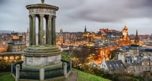 View of Edinburgh from Calton Hill, Scotland