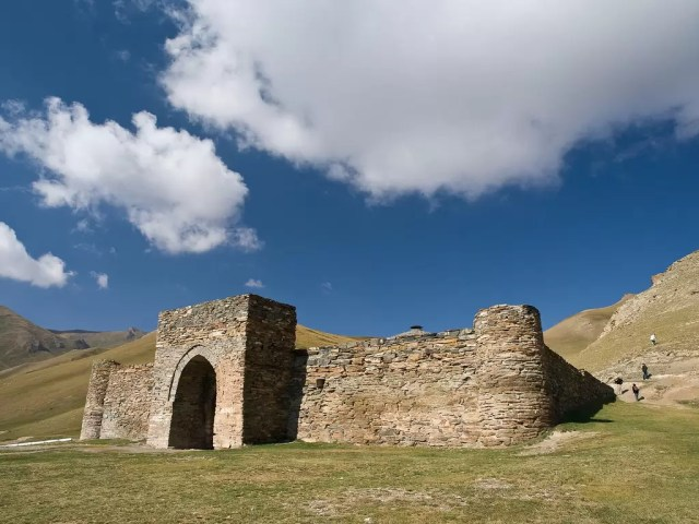 Tash Rabat is an ancient silk road caravansary in Kyrgyzstan