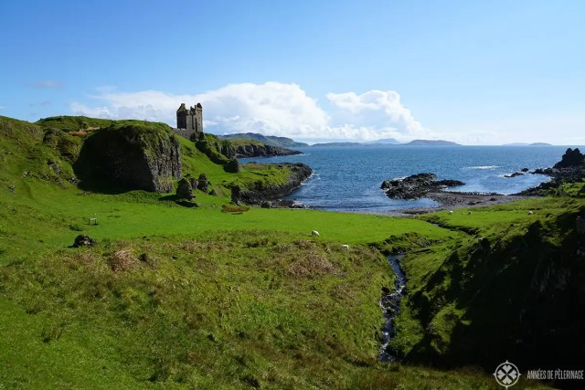 Gylen Castle ruin on Kerrerea Island near Oban Scotland